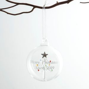 Personalised Tree Glass Bauble