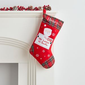 Personalised Small Fleece Letter to Santa Stocking