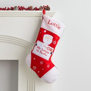 Personalised Medium Fleece Letter to Santa Stocking
