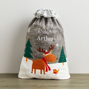 Personalised Moose Sack With Fur Cuff
