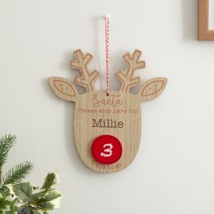 Personalised Countdown to Christmas Reindeer Sign