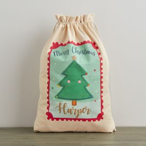 Personalised Cream Christmas Tree Sack