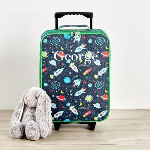 Personalised Space Print Small Suitcase