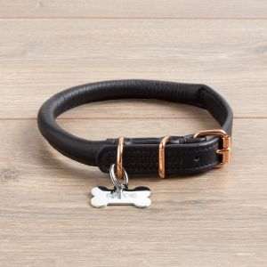 Personalised Leather Dog Collar with Tag