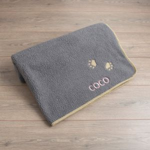 Personalised Grey Paw Pet Blanket