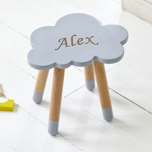 Personalised Grey Cloud Stool