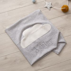 Personalised Grey Cashmere Blanket