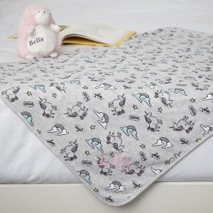 Personalised Unicorn Print Blanket