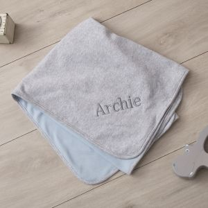 Personalised Grey Marl Blanket