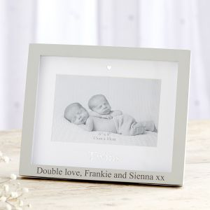 Personalised 'Twins' Photo Frame