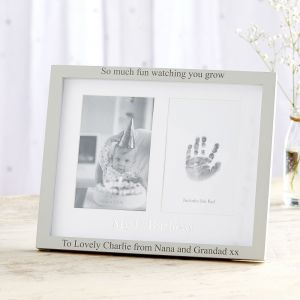 Personalised 'My 1st Birthday' Photo and Ink Print Frame