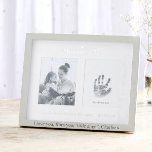 Personalised 'Mummy & Me' Photo and Ink Print Frame