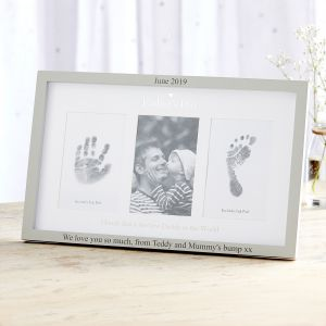 Personalised Father's Day' Photo & Ink Print Frame