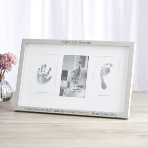 Personalised '1st Birthday' Photo and Ink Prints Frame