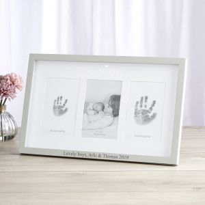 Personalised 'Me & My Brother' Photo and Ink Prints Frame
