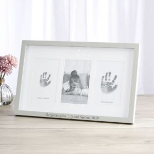 Personalised 'Me & My Sister' Photo and Ink Prints Frame