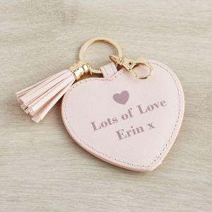 Personalised Pink 'Live Love Sparkle' Keyring