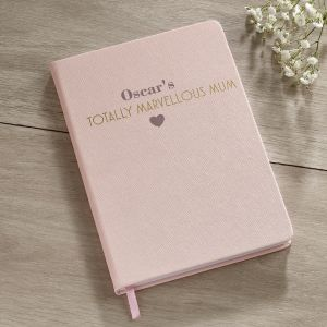 Personalised 'Marvellous Mum' A5 Notebook
