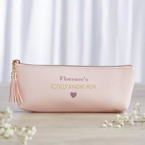 Personalised 'Amazing Mum' Pink Makeup Bag