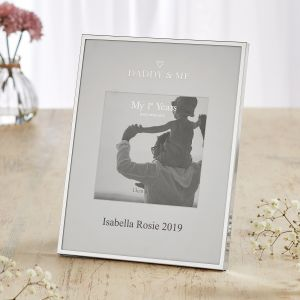 Personalised Silver-Plated Daddy & Me Photo Frame