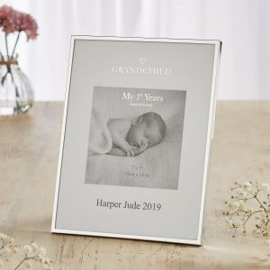Personalised Silver-Plated Grandchild Photo Frame