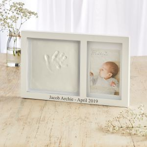 Personalised Photo Frame with Clay Hand Print