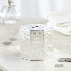 Personalised Alphabet Silver-Plated Money Box