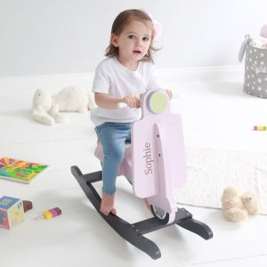 Personalised Pink Rocking Scooter Toy