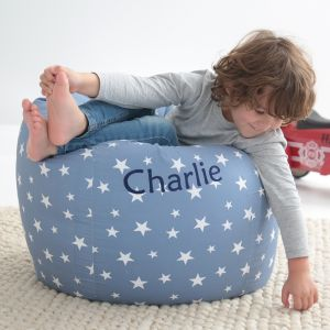 Personalised Blue Star Print Beanbag