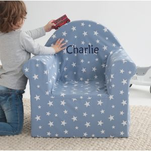Personalised Blue Star Print Chair