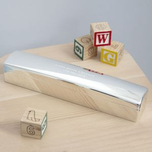 Personalised Silver Birth Certificate Holder