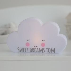 Personalised White Cloud Night Light