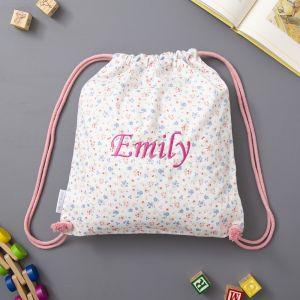Personalised Ditsy Print Drawstring Bag