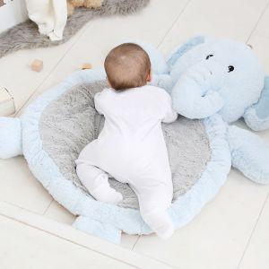 Personalised Elephant Playmat - Blue
