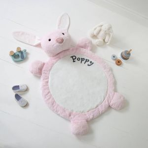 Personalised Pink Bunny Playmat