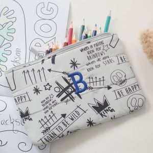 Graffiti Print Pencil Case