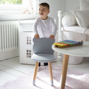 Personalised Grey Bear Ears Chair