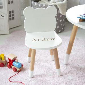 Personalised White Bear Ears Chair
