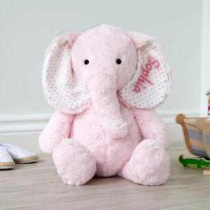 Personalised Large Pink Elephant Soft Toy