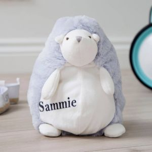 Personalised Blue Medium Hedgehog Soft Toy