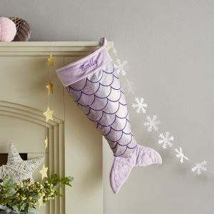 Personalised Purple Mermaid Stocking