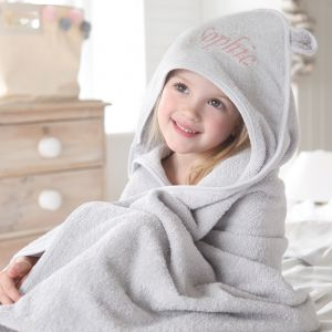 Personalised Large Grey Hooded Towel