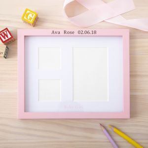 Personalised Pink Girls Photo Frame