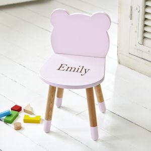 Personalised Pink Bear Ears Chair