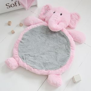 Personalised Elephant Playmat - Pink