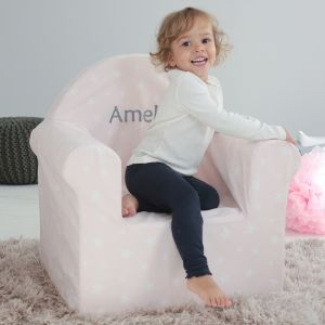 Personalised Pink Star Print Chair
