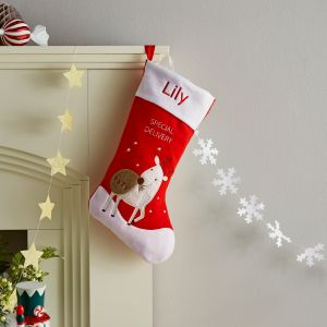 Personalised Red Special Delivery Stocking