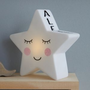 Personalised White Star Night Light