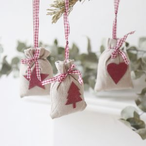 3 Pack of Mini Hessian Sack Decorations