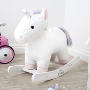 Personalised White Unicorn Rocker